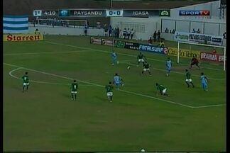 Alex Gaibu abre o placar para o Paysandu - Gol foi marcado aos 4 minutos do primeiro tempo.