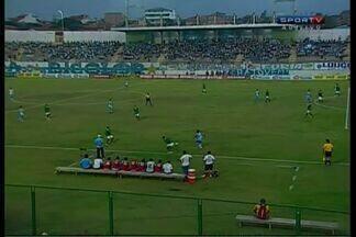 Alex Gaibu amplia para o Paysandu contra o Icasa - Aos 15 minutos, o Papáo faz o segundo, em casa.