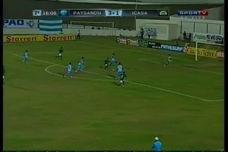 Niel marca o segundo gol do Icasa - Niel recebe na entrada da área e chuta na saída de João Ricardo.