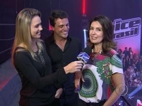 Rodrigo Lombardi e Fátima Bernardes estiveram no The Voice Brasil - Confira os bastidores de mais uma emocionante batalha