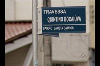 Sem sinalização, motoriscas ficam perdidos em trecho da travessa Quintino Bocaiúva - Trecho é entre as travessas Pariquis e Fernando Guilhon.