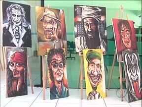 Exposição mostra o trabalho de jovens infratores - São quadros pintados pelos jovens que cumprem medidas sócio educativas nos Creas (Centro de Referência Especializado de Assistência Social) de Paranavaí.