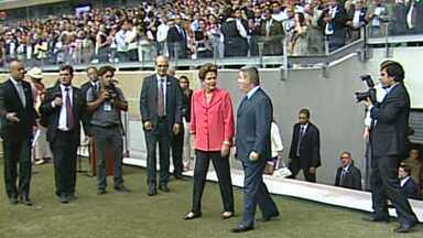 """Presidente Dilma Rousseff inaugura nova Mineirão em Belo Horizonte - O """"Gigante da Pampulha"""" está com 100% da reforma concluída."""