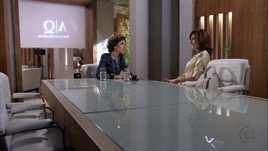 Berna desabafa com Deborah - Ela conta que seu casamento com Mustafa está ameaçado