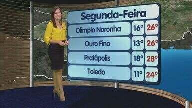 Confira a previsão do tempo no Sul de Minas - Confira a previsão do tempo no Sul de Minas para essa segunda-feira (21)