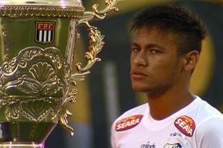 Com dois gols, Neymar brilha em estreia e torcida do Santos já sonha com o tetra - Craque foi o protagonista na vitória por 3 a 1 sobre o São Bernardo, na rodada do Campeonato Paulista.
