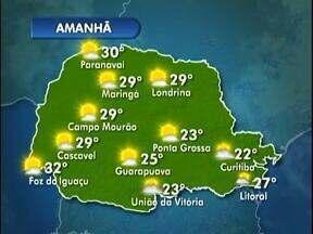 Semana de céu claro em Londrina, sem chuva - Veja a previsão do tempo no mapa.
