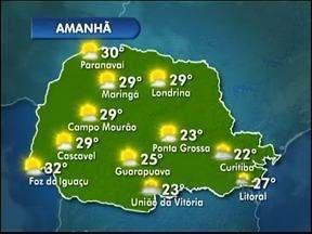Previsão de frio durante a madrugada - Terça-feira será ensolarada no Paraná