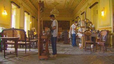 Em Pernambuco, reforma do Palácio do Governo vai poder ser acompanhada por visitantes - Visitas precisam ser agendadas por telefone ou email.