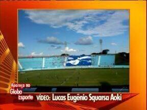 Goleada e bandeirão novo na estreia do Londrina - Torcedores mandaram os vídeos da estreia do Tubarão no Campeonato Paranaense.