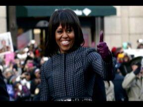 Michelle Obama tem papel fundamental nas ações sociais nos EUA - Primeira-dama soube usar o carisma para ajudar a arrecadar fundos na campanha de reeleição do marido e teve papel fundamental para motivar os voluntários dos comitês. Além disso, Michelle é responsável pelo projeto para reduzir a obesidade infantil.