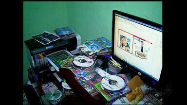 Dois homens são detidos suspeitos de crime de pirataria do Cariri - Eles tinham em casa vários equipamentos destinados à cópia de cds e dvds piratas.