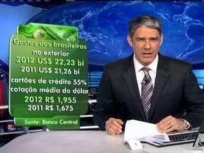 Brasileiros gastaram US$ 22 bilhões em viagens internacionais em 2012 - Turistas brasileiros viajaram principalmente para a Europa e Para os Estados Unidos. Metade das viagens foram pagas com cartões de crédito. O recordo foi alcançado mesmo com o dólar mais caro.