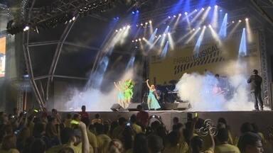 Parada Musical reúne 25 mil pessoas em Manaus - Os shows da Parada Musical, evento que dá início às comemorações do aniversário de 350 anos dos Correios, reuniu nesta sexta-feira (25) cerca de 25 mil pessoas no Centro Cultural dos Povos da Amazônia, localizado na Zona Sul de Manaus.