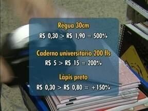 Segundo Procon, variação dos preços do material escolar chegam a 500% em SC - Segundo Procon, variação dos preços do material escolar chegam a 500% em SC