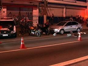 Homem é assassinado durante tentativa de assalto na Zona Sul de São Paulo - Um homem foi assassinado durante uma tentativa de assalto na Zona Sul de São Paulo. A moto em que ele estava foi fechada pela moto dos criminosos.