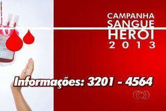 """Corpo de Bombeiros lança campanha para estimular doações de sangue em Goiás - O Corpo de Bombeiros lança a campanha """"Sangue Herói 2013"""" para estimular a doação de sangue antes do carnaval. Durante o lançamento da campanha, nesta quinta-feira (31), os bombeiros vão dar o exemplo em uma doação coletiva."""