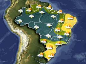 Veja a previsão do tempo para esta quinta-feira (31) em todo o Brasil - Pode chover forte novamente em Goiás. As pancadas de chuva intensas estão previstas para o norte de São Paulo e do Rio de Janeiro, e para o sul do Espírito Santo.