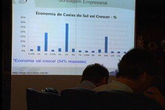 Empresários estimam crescimento da economia de Caxias do Sul em 2013 - Crescimento deve variar entre 3% e 5%, de acordo com SIMECS e CIC da cidade.