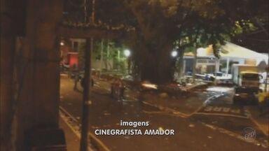 Terminou em confusão o carnaval de Sapucaia, em Piracicaba (SP) - O caso foi registrado como tentativa de homicídio.