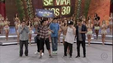 Galera do hip hop ganha o Se Vira nos 30 e leva R$ 20 mil - Essas feras levantaram a plateia do Domingão com sua incrível apresentação