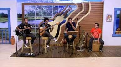 Música boa com o grupo instrumental Tocandira, confira - O É Bem Mato Grosso começa às 13h50, todos os sábados, na TV Centro América.