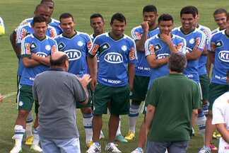 Palmeiras apresenta dois reforços e presidente explica saída de Barcos - Léo Gago e Leandro já estão à disposição de Kleina, e pode estrear no clássico