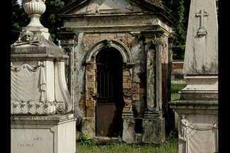 Cemitério da Soledade deve ser revitalizado para virar um parque - Local está abandonado. Alguns túmulos foram violados.