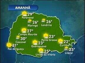 Curitiba terá sol entre nuvens neste sábado - Não há previsão de chuva para a capital, que deve ter máxima de 22°. Nas praias faz 25°, e pode chover.