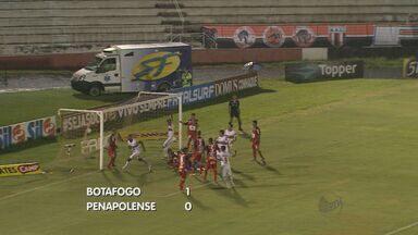 Em Ribeirão, Botafogo-SP vence Penapolense no Paulistão - Partida precisou ser paralisada por causa da chuva.