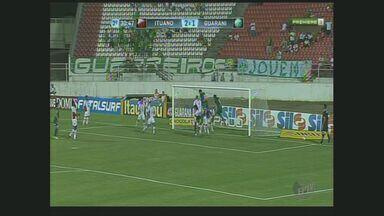 Guarani e Ituano empatam na rodada do Campeonato Paulista - Em Itu, o Guarani saiu na frente do Ituano com cobranças de falta, mas no final o jogo terminou em 2x2.