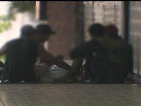 Usuários consomem drogas em alguns locais do Plano Piloto - O maior número de usuários de crack estava no Setor Comercial Sul cerca de 4 km do Palácio do Buriti.