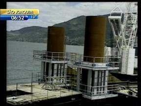 Mudança na estrutara de obras agiliza reforma na ponte Anita Garibaldi, em Laguna - Mudança na estrutara de obras agiliza reforma na ponte Anita Garibaldi, em Laguna