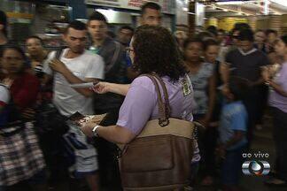 Campanha contra o assédio sexual em ônibus é lançada em Goiânia - A Prefeitura de Goiânia lançou nesta sexta-feira (1º) uma campanha para combater o assédio sexual em ônibus do transporte coletivo da capital.