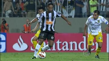 Atlético-MG mantém 100% de aproveitamento na Libertadores - Na última quinta-feria (7) o time enfrentou o Strnguest, da Bolívia, e venceu por 2 x 1.