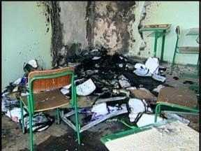 Duas escolas são depredadas por vândalos, em Lages - Duas escolas são depredadas por vândalos, em Lages