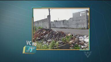Morador reclama de entulhos em ruas de São Vicente - Caixa d'água subterrânea quebrada é motivo de preocupação dos moradores do bairro por risco de dengue