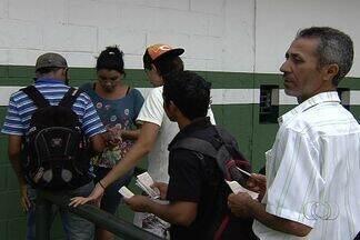 Está liberada a troca de notas fiscais e alimentos por ingressos do Goianão 2013 - Ação é uma parceria entre Federação Goiana de Futebol e governo de Goiás.Promoção vale para todas as fases do campeonato, que ainda está na 1ª etapa.