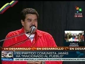 Nicolás Maduro confirma candidatura na eleição presidencial da Venezuela - Simpatizantes do presidente morto continuam fazendo filas para se despedir de Hugo Chávez. O presidente interino Nicolás Maduro anunciou a candidatura à presidência da Venezuela. Ele se emocionou ao falar sobre Chávez.