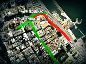 Zona Portuária tem novas interdições a partir deste sábado (23) - A rampa da Perimetral fecha na chegada a Presidente Vargas, logo depois a partir da Igreja da Candelária, no sentido Aterro do Flamengo. Para chegar ao Aterro do Flamengo, os motoristas tem como opção a Av. Rio Branco e o mergulhão da Praça XV.