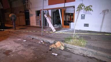 Polícia prende cinco suspeitos de explodir caixa eletrônico em BH - Crime foi na Região da Pampulha.