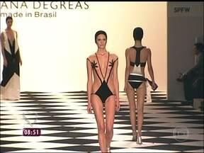 Renata Kuerten e Adriana Degreas comentam coleção da moda praia - O próximo verão terá até veludo nos biquínis