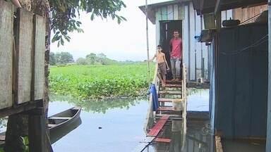 Áreas do Bairro São Sebastião, em Porto Velho, estão em estado de alerta - Cheia do Rio Madeira já ameaça famílias ribeirinhas de Porto Velho.