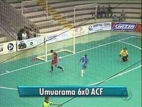Umuarama Futsal goleia time de Cascavel - Pela Chave Ouro, o time do Umuarama venceu a ACF por 6 a 0.