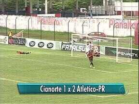 Cianorte perde mais uma e se complica no Paranaense - O time perdeu em casa, e de virada, para o Atlético Paranaense. Resultado que deixou o Leão do Vale na zona do rebaixamento.