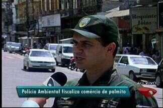 Polícia Ambiental fiscaliza venda de palmito no Sul do ES - Produto é mais vendido na época da Semana Santa.