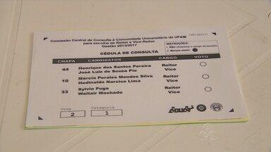 Universidade Federal do AM realiza eleição para a reitoria nesta quarta - Foram instaladas 21 urnas distribuídas em cinco locais de votação.Henrique Pereira, Sylvio Puga e Márcia Peralles estão na disputa.