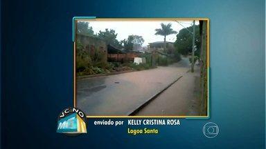Telespectadora reclama de alagamentos em bairro de Lagoa Santa - Veja outros flagrantes dos telespectadores no VC no MGTV.