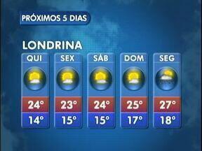Feriado da Páscoa vai ser de tempo bom em Londrina - Veja a previsão do tempo no mapa.