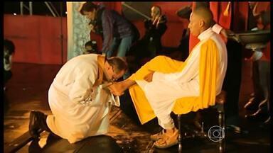 Fiéis celebram Semana Santa em Ouro Preto - Cerimônia de Lava Pés foi realizada